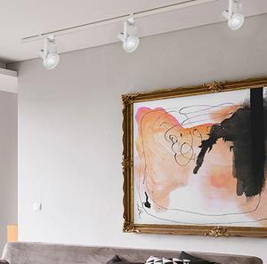 Lámpara de techo riel 1L blanca