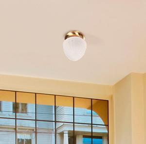 Lámpara de techo 1L plafón bronce
