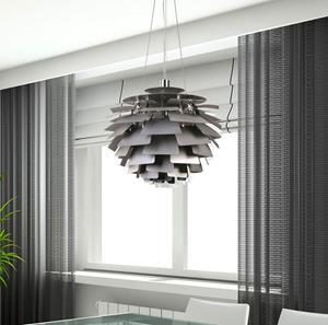 Lámpara Colgante 1L plateado Arte