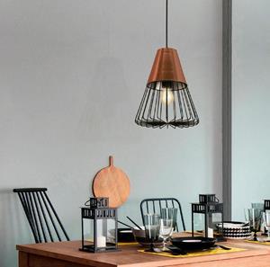 Lámpara Colgante 1L cobre