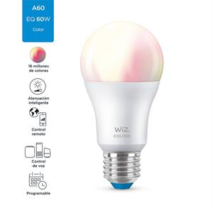 Imagen de Bombillo LED Smart Wiz A19 RGB dimeable