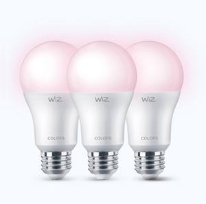 Imagen de Bombillo LED Smart Wiz A19 RGB dimeable (3 pack)