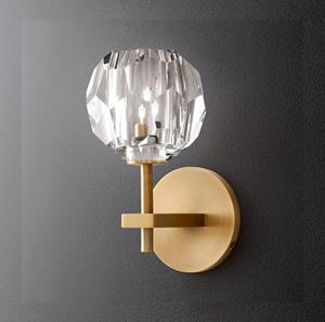Imagen de Lámpara de Pared Cristal 1L bronce