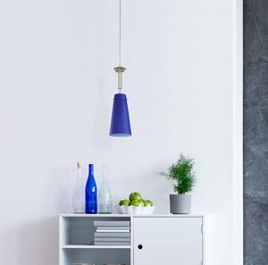 Lámpara Colgante 1L azul bar