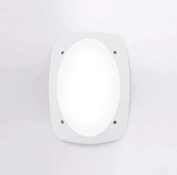 Lámpara Ext. de Pared E27 blanco