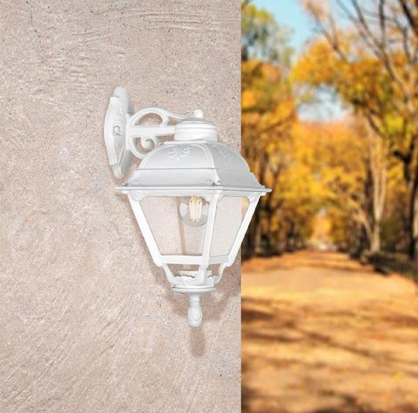 Lámpara Farol Pared 1L blanco