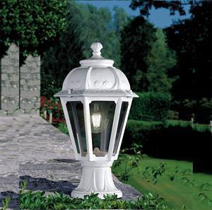 Lámpara Poste Ext Fum 1L blanco