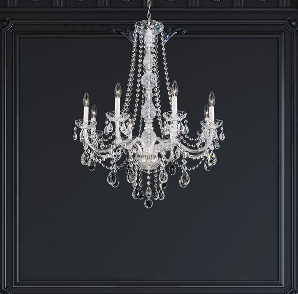 Lámpara Colgante 8L cristales sch