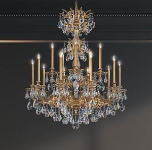 Lámpara Colgante Milano 15L Chandelier Schonbek