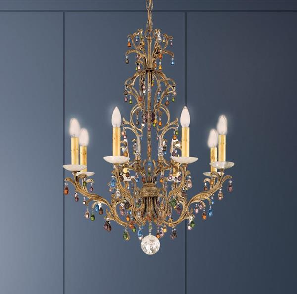 Lámpara Colgante Genesis Chandelier 8L Schonbek