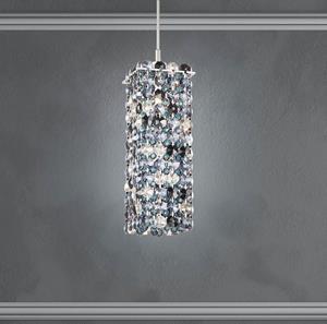 Lámpara Colgante Geometrix Matrix 1L azul Schonbek