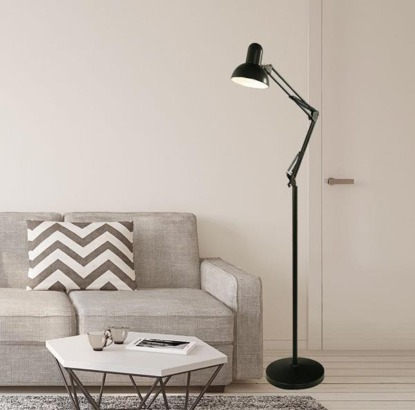 Lámpara de Piso Negra 1L