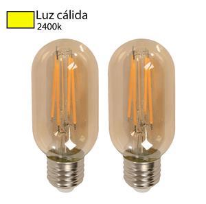 Imagen de Bombillo LED Filamento T45 2400k (2 pack)