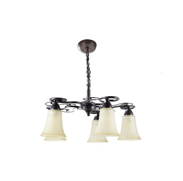 Lámpara Colgante 5L ambar
