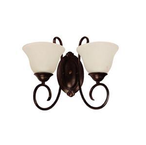 Lámpara Aplique de pared 2L bronce