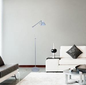 Lámpara de Piso 1L plateado