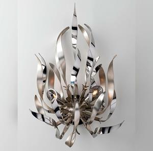 Lámpara Aplique de Pared 2L silver