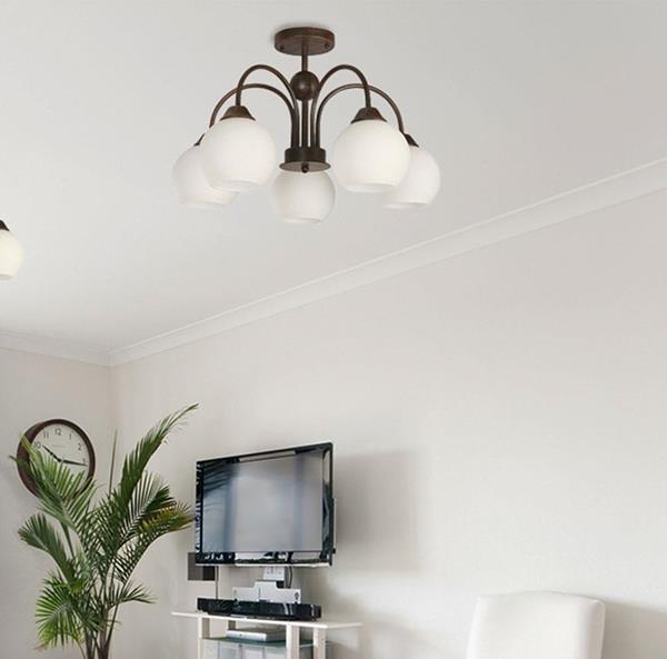 Lámpara de Techo 5L choco y blanc