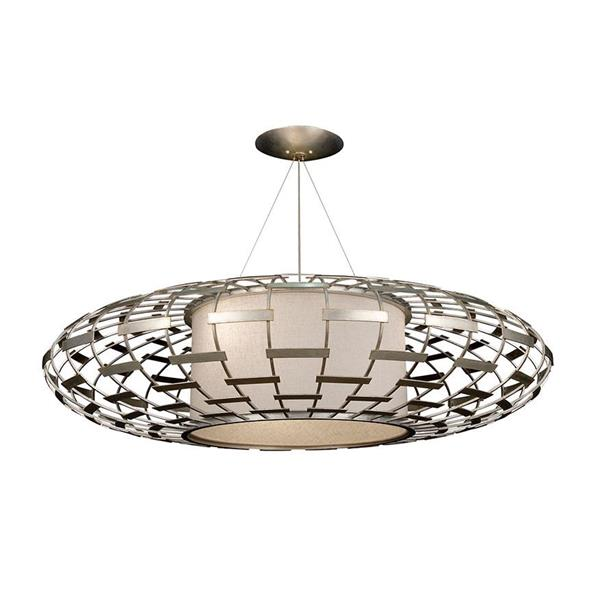 Lámpara Colgante Round 3L silver