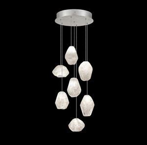 Imagen de Lámpara Pendant Clear Quartz Glass 7L silver Fine Art