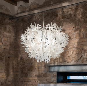 Imagen de Lámpara Suspension Fiorella blanca Slamp