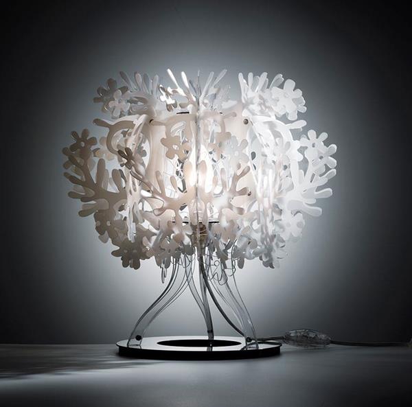 Lámpara de Mesa 1L blanca Slamp