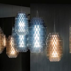 Lámpara Suspensión LED blue Slamp