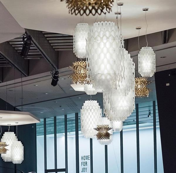 Lámpara Suspensión LED blanca Large