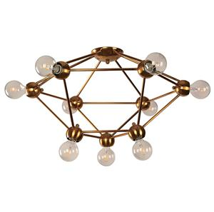 Imagen de Lámpara de Techo Signal 9L bronce dorado