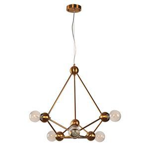 Imagen de Lámpara Colgante Signal 6L bronce dorado