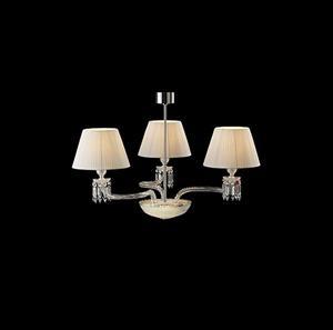 Lámpara Chandelier 3L blanco baccarat