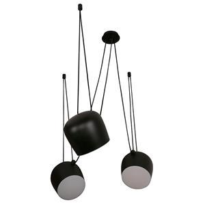 Imagen de Lámpara Colgante LED 3L negra 3000k