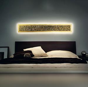 Imagen de Lámpara de Pared Groove R160 foglia oro Morosini