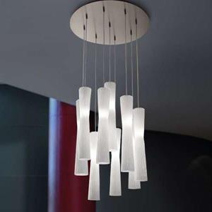 Imagen de Lámpara Colgante Mini Frize 6L blanca Morosini