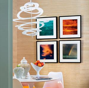 "Imagen de Lámpara Colgante LED Spellbound 1L blanca 32"" Corbett"