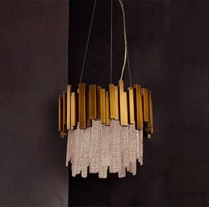 Imagen de LAMP. COLGANTE BRONCE ANTIGUO 4L E14 60W