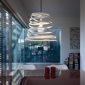 Imagen de Lámpara Colgante Curl May Light 1L blanca Studio