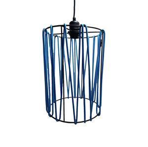 Lámpara Colgante 1L malla azul