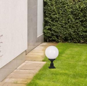 Lámpara poste exterior negro 1L white
