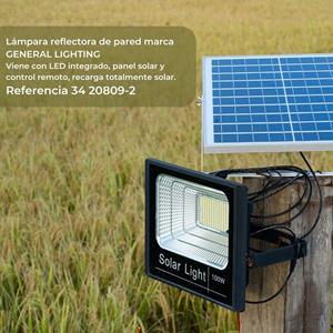 Lámpara Ext. Pared recargable solar