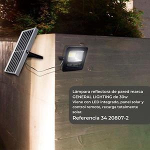 Lámpara Pared Ext Recargable solar