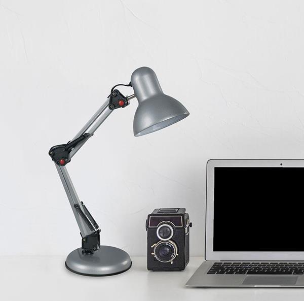 Lámpara de Escritorio 1L gris flexible