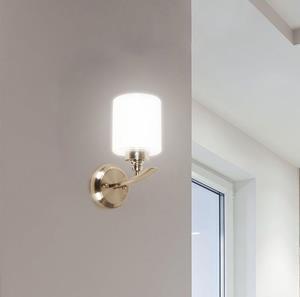 Lámpara Aplique 1L níquel pared