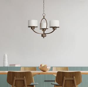 Lámpara Colgante 3L bronce cepillado