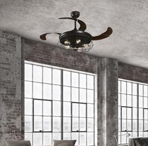 Abanico de techo 4 aspas 5 luces
