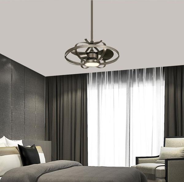 Ventilador LED inverter Plata 22 in