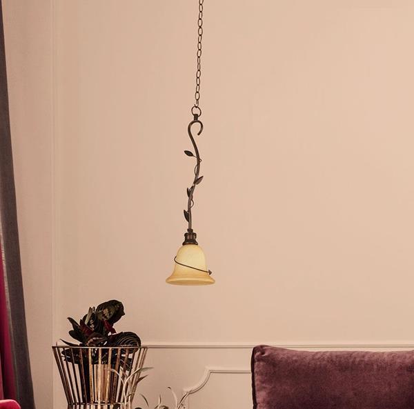 Lámpara Colgante 1L dorado antiguo