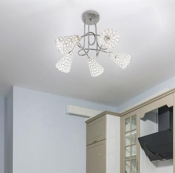 Lámpara de Techo 5L cromo