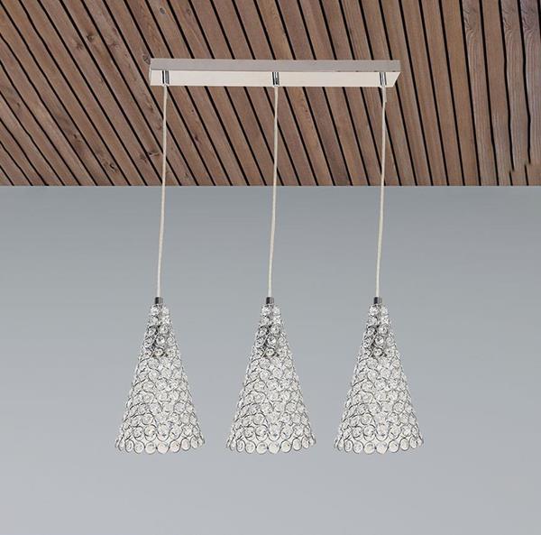 Lámpara Colgante Cromo 3L