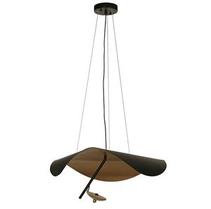 Imagen de Lámpara Colgante LED Campanilla 3000k negro / dorado 12w